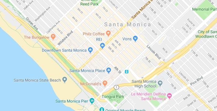 Santa Monica Map