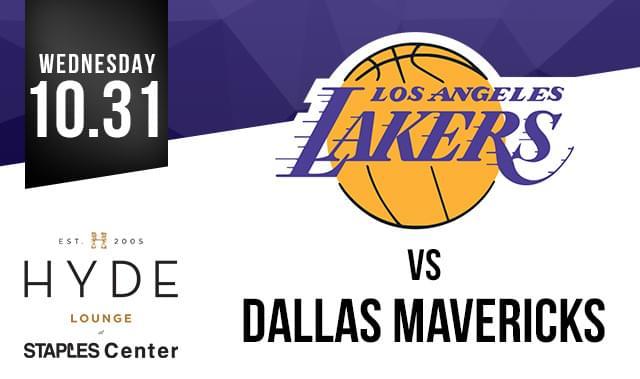 La Lakers Vs Dallas Mavericks Tickets At Hyde Staples In
